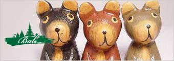 木彫りお座り人形